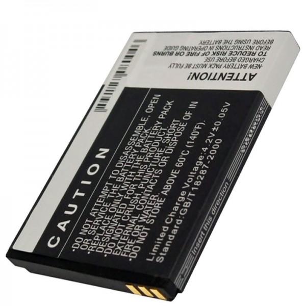 Batterie Bea-Fon S10, pile réplique d'une capacité de 1000 mAh d'AccuCell