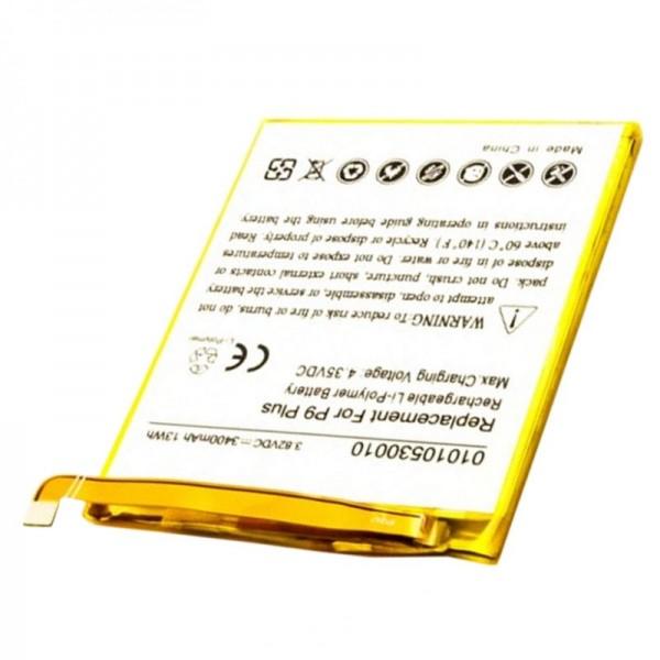 Batterie compatible avec la batterie Huawei Ascend P9 Plus HB376883ECW