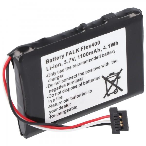Batterie pour Falk Flex 400 batterie BP-400H-11 / 1200MX