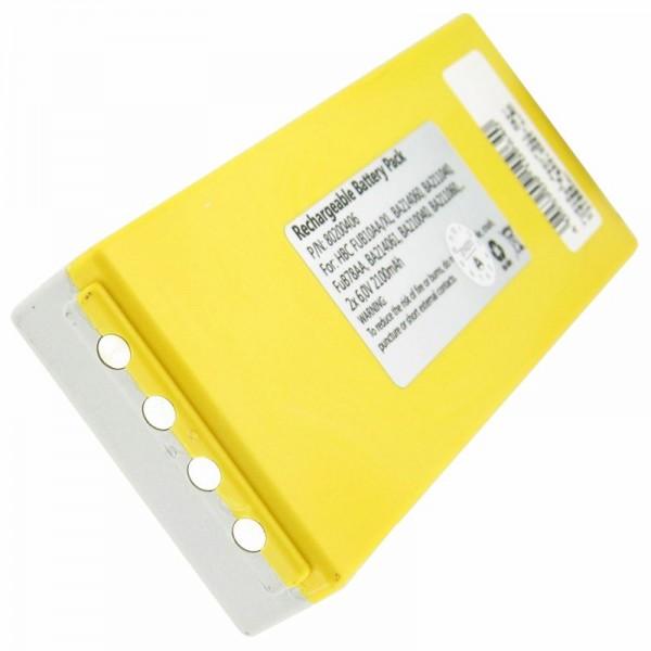 AccuCell batterie convient pour la batterie HBC FuB10a NM26C, BA211060, BA214061 NiMH 2200mAh
