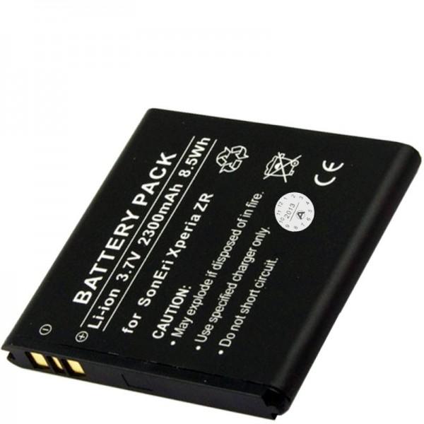 Batterie rechargeable BA950 en réplique de AccuCell pour Sony Xperia ZR LTE
