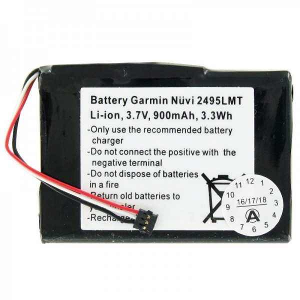 AccuCell batterie adapté pour la batterie Garmin Nuvi 2405 361-00035-03