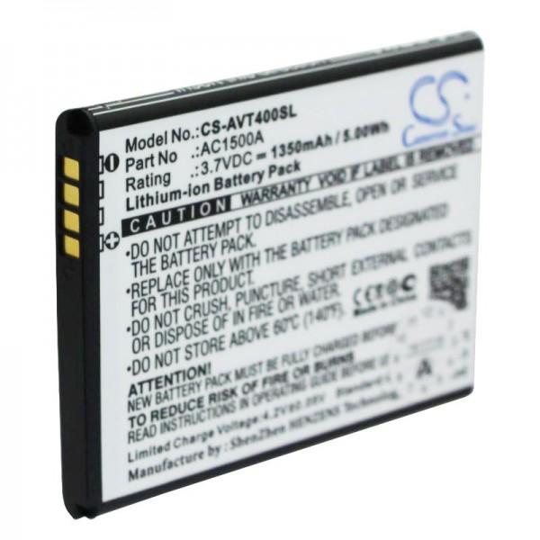 ARCHOS 40 batterie titane AC1500A Li-ion 3,7 volts avec 1350mAh, 5,0Wh