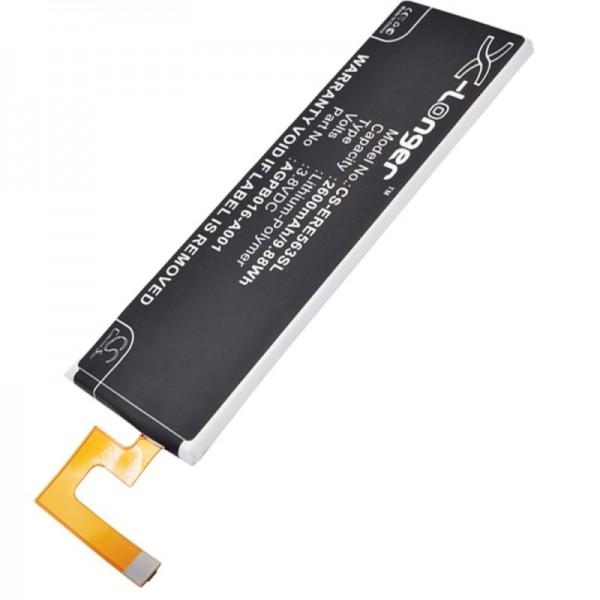Batterie compatible pour Sony Ericsson Xperia M5, AGPB016-A001 3.8 Volt 2600mAh