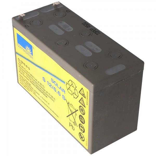 Batterie Sunshine Solar S12 / 6.6S rechargeable fil 12V 6.6Ah