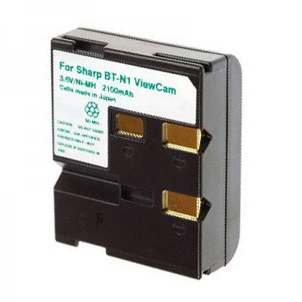 AccuCell batterie adapté pour Sharp BT-N1 série ViewCam