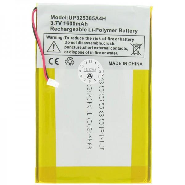 AccuCell batterie adaptée pour Apple iPod 1G, 2G, UP325385A4H avec 1600mAh