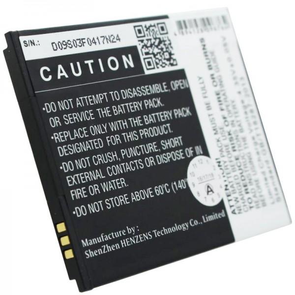 Batterie MOBISTEL Cynus F6 en réplique de Accucell pour BTY26188