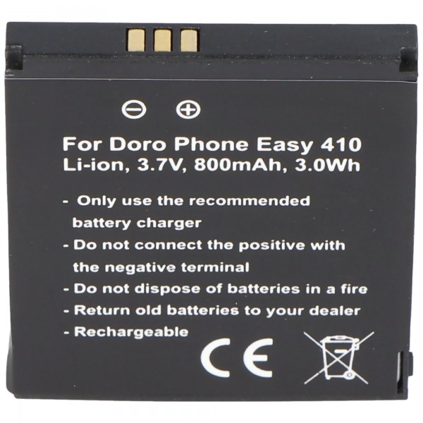 Doro PhoneEasy 410 Batterie SHELL01A Batterie Soins Clapet