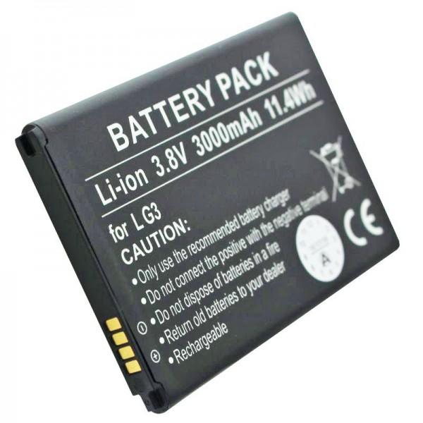 Batterie compatible avec les batteries LG D855, D858, G3, VS985, BL-53YH