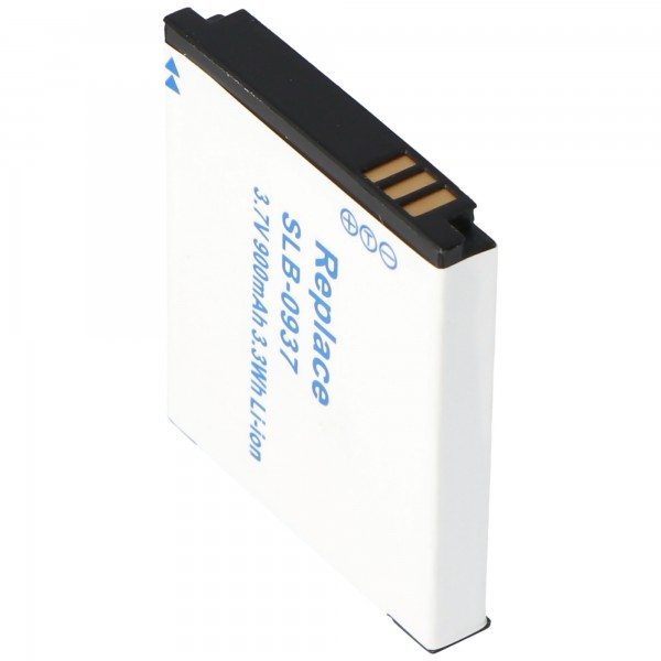 Batterie AccuCell pour Samsung SLB-0937, 900mAh