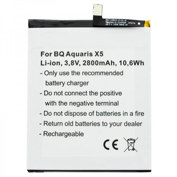 Batterie pour BQ Aquaris X5 batterie 2900 avec 3.8 Volt 2800