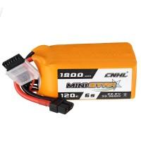 Batterie Li-Polymer - 1800mAh (22,2V) Prise 120C 6S XT60 pour modélisme, drones, multicoptères, quadricoptère tel que 6S1P