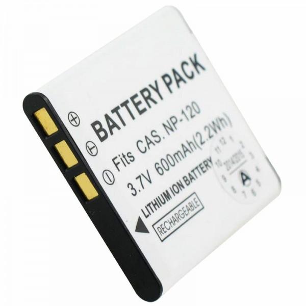 Batterie pour Casio NP-120 EXILIM EX-S200