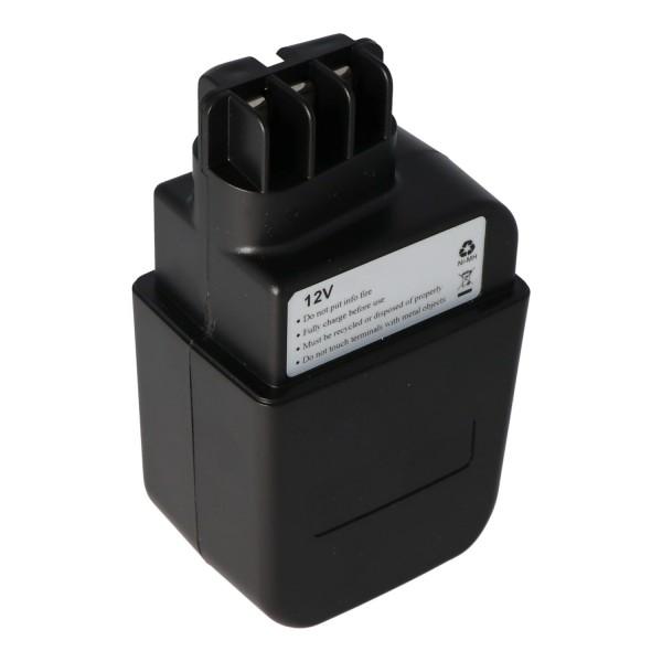 AccuCell batterie adaptée pour Metabo 630073 batterie 12Volt 3.0Ah NiMH