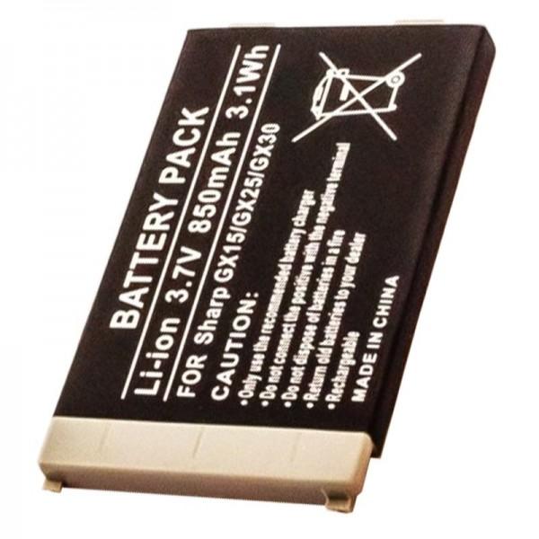 AccuCell batterie adapté pour Sharp GX15, GX25, GX30, GX30i, 850mAh