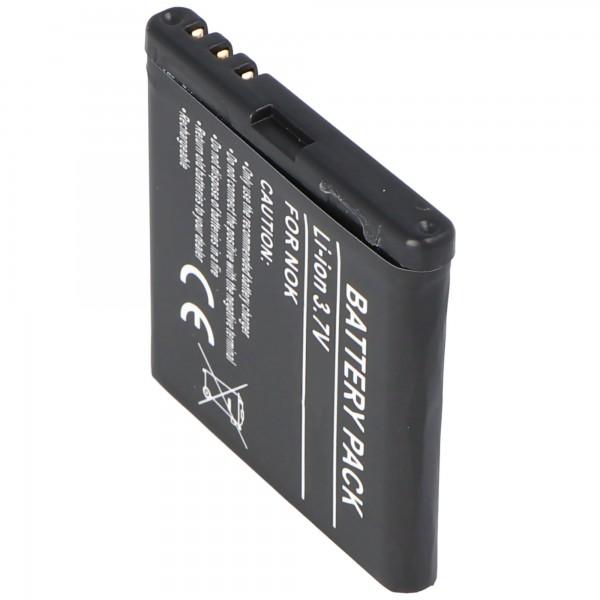 AccuCell batterie adapté pour Nokia 6220 classic, BP-5M