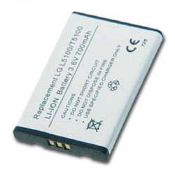 AccuCell batterie adapté pour LG L5100, LG T5100, 900mAh