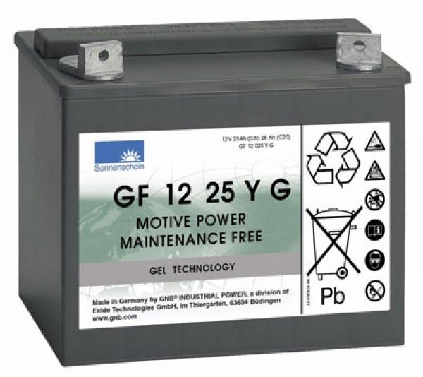 Batterie Exide Dryfit GF 12 25 YG GF12025YG 12 volts 25 Ah pour les caddies de golf, etc.