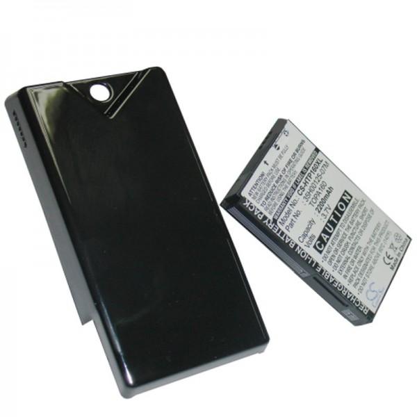 Batterie AccuCell pour HTC Touch Diamond 2 avec cache supplémentaire