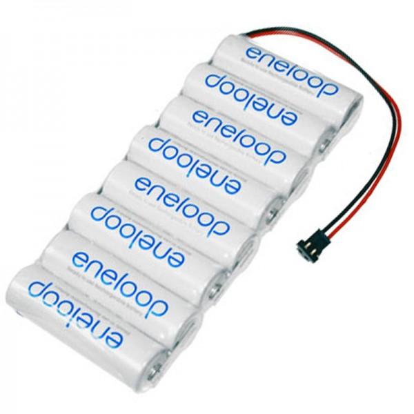 Batterie transmetteur Sanyo Eneloop AA 8 Series 9,6 / 2000 Graupner