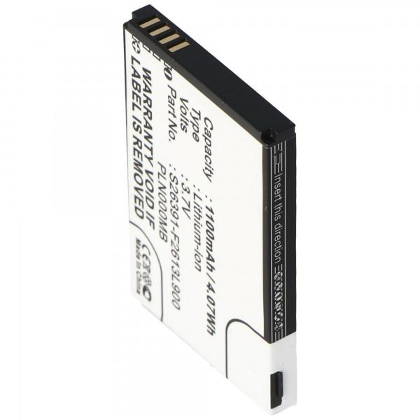 AccuCell batterie convient pour batterie Fujitsu-Siemens Loox S26391-F2613-L90 10600731575, PLN000MB, 35H00061-10M