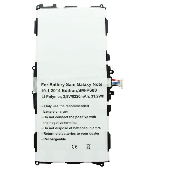 Batterie adaptée pour Samsung Galaxy Note 10.1 SM-P600 Batterie T8220E