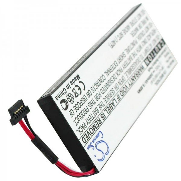 Batterie de remplacement pour batterie Becker BP-LP1100, Becker BE7928, Traffic Assist 7928, 2400mAh