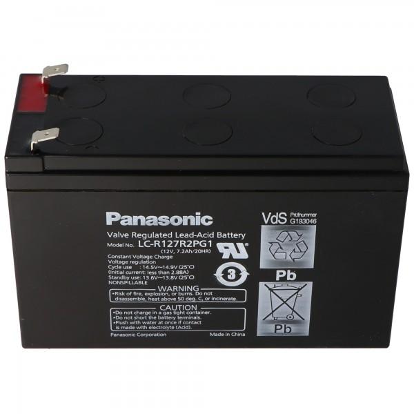 Batterie rechargeable Panasonic LC-R127R2PG1 PB 12 Vds 7.2Ah VDS G193046, 6.3mm
