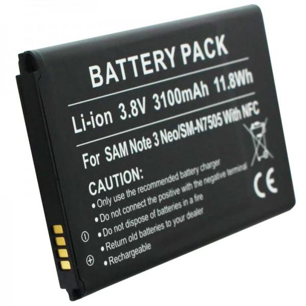Batterie SM-N7505 pour Samsung Galaxy Note 3 Neo en réplique avec NFC