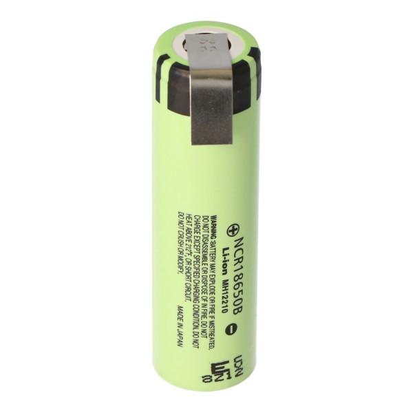 Panasonic NCR18650B 3.6V - Batterie Li-Ion 3.7V 3400mAh + étiquette de soudure Z