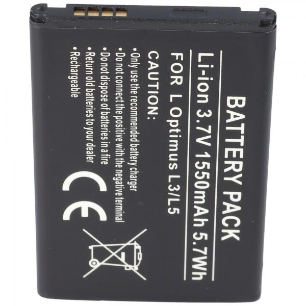 AccuCell batterie adaptée pour LG Optimus L3, Optimus L3 Dual