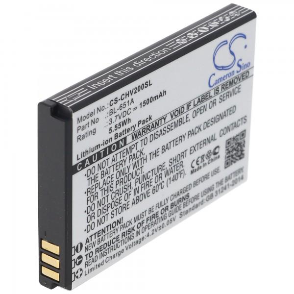 Batterie pour CrossCall Shark V2 batterie BL-651A avec 1100mAh