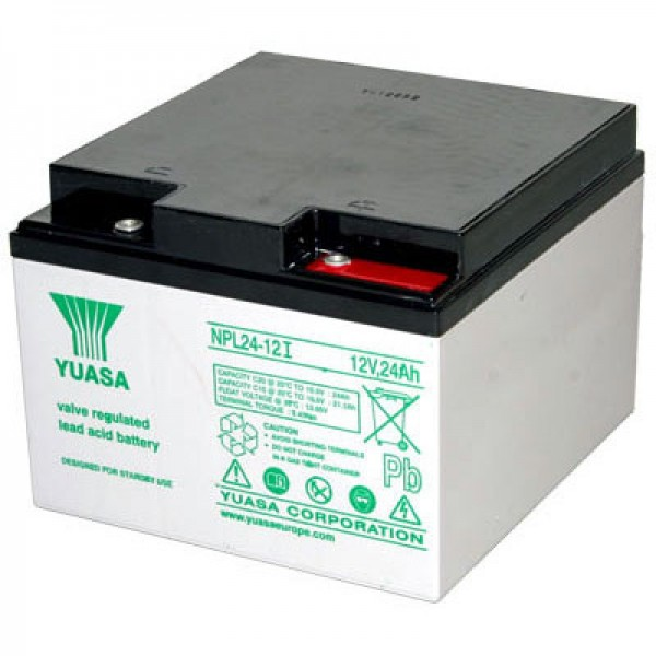 Batterie au plomb Yuasa NPL24-12i PB, connexion à vis enfoncée M5
