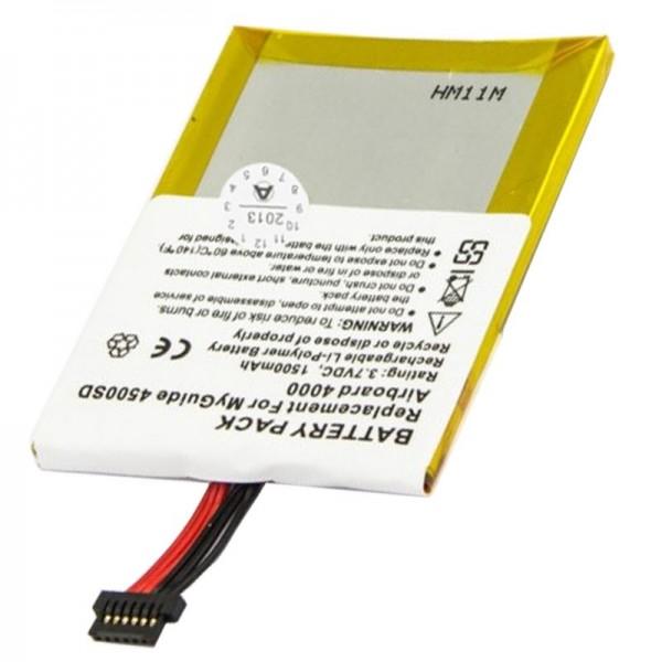 AccuCell batterie adaptée pour Typhoon MyGuide 4000, 1500mAh