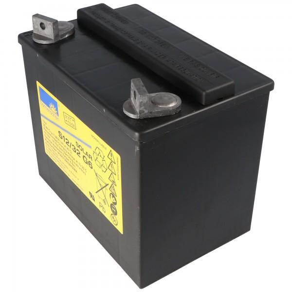 Batterie au plomb-acide pour batterie solaire Sonnenschein S12 / 32G6 12Volt 32Ah, borne à vis M6