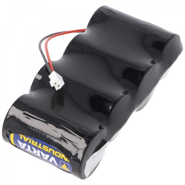 Batterie alcaline Varta 4,8 volts avec câble et fiche 4,8 V