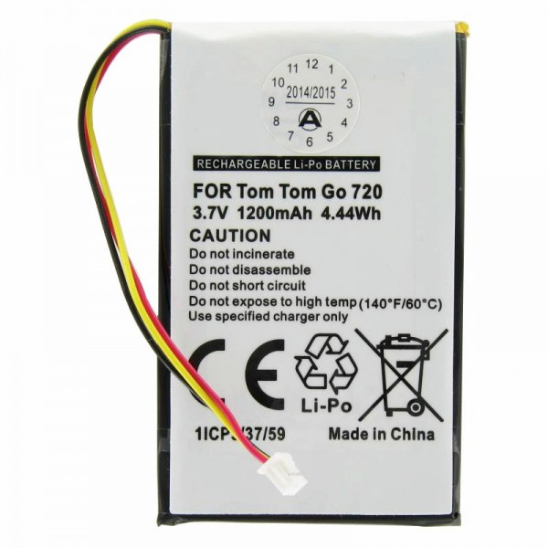 Batterie adapté pour TomTom Go530, Go630, Go730, 1697461