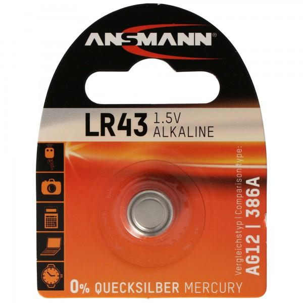 Panasonic LR43-V12GA, 186, 84, pile bouton LR1142