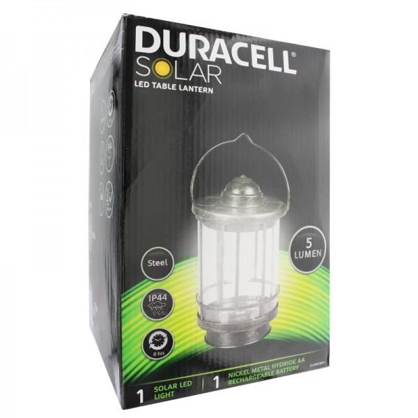 Lampe de table à DEL Duracell Solar jusqu'à 5 lumens, avec batterie rechargeable NiMH standard