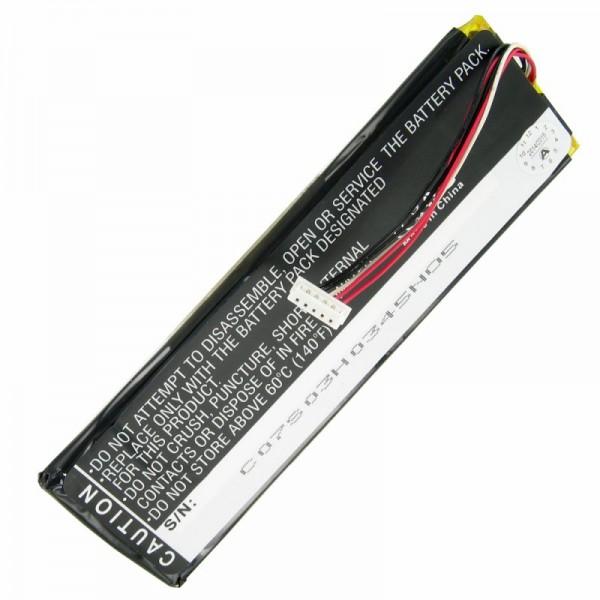 AccuCell batterie adaptée pour Sonos CB100, télécommande CR100
