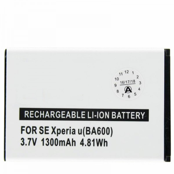 Batterie AccuCell pour Sony Ericsson ST25i, Xperia U, BA600
