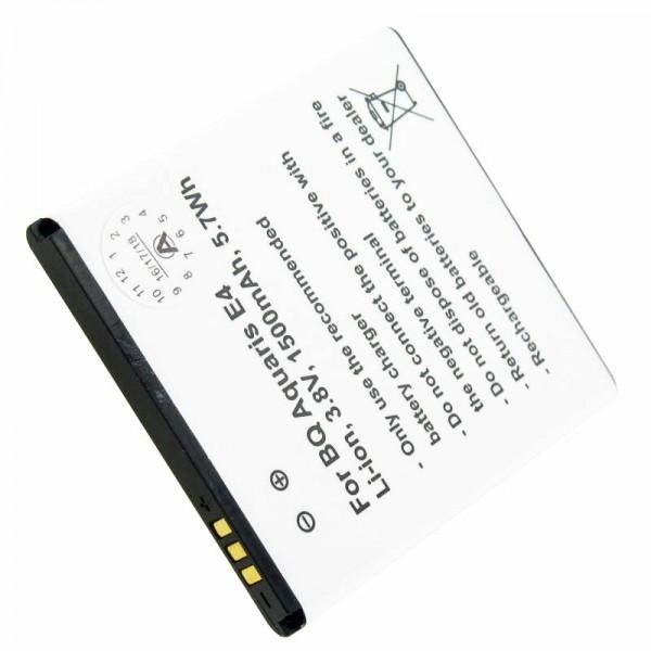 Batterie pour BQ Aquaris E4 B46, Li-Polymer BQ 1700 3,8 Volt 1700mAh