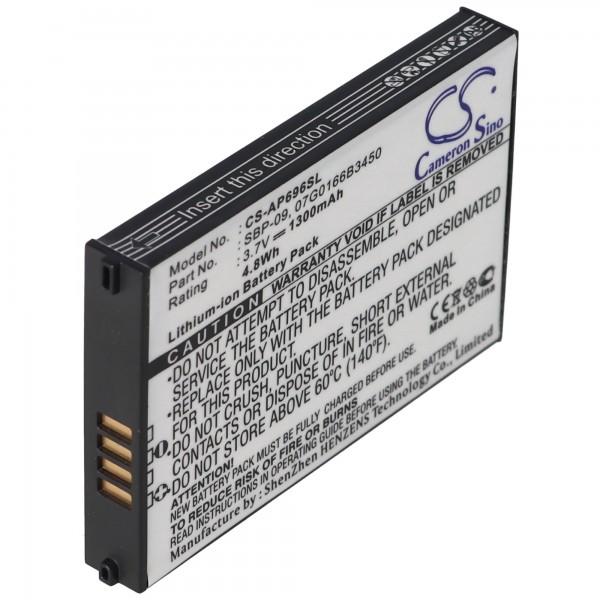 AccuCell batterie compatible avec ASUS MyPal A686, SBP-09