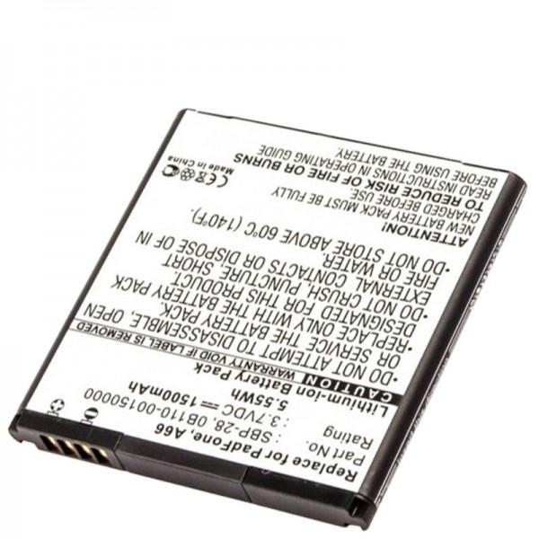 Batterie AccuCell pour Asus PadFone A66, 0B110-00150000, SBP-28