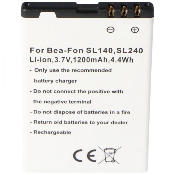 Batterie pour téléphone portable Bea-Fon SL140, SL240 batterie SL140
