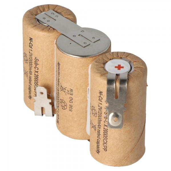 Batterie pour Gardena ACCU 60 avec Faston 6.3 et 4.8mm, 2000mAh