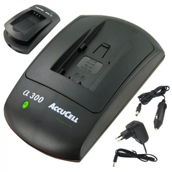 Chargeur AccuCell pour batterie Canon BP-709, BP-718, BP-727, BP-745