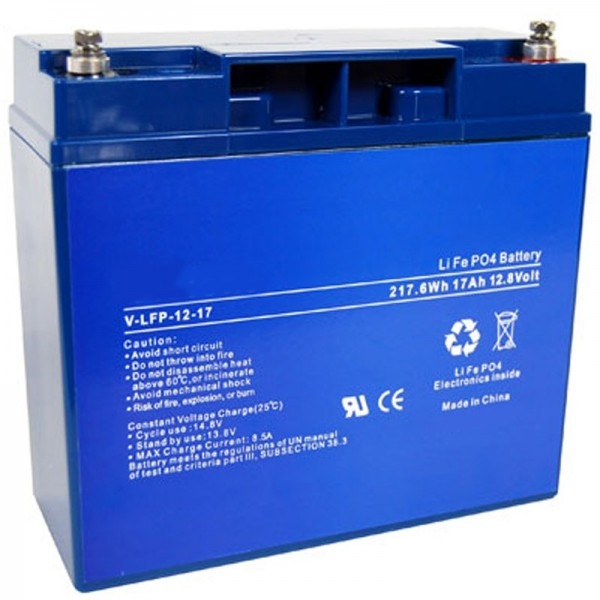 Batterie AccuCell pour chariot de golf, chariot de golf avec batterie LiFePO4 de 12V, 17Ah, 217,6Wh
