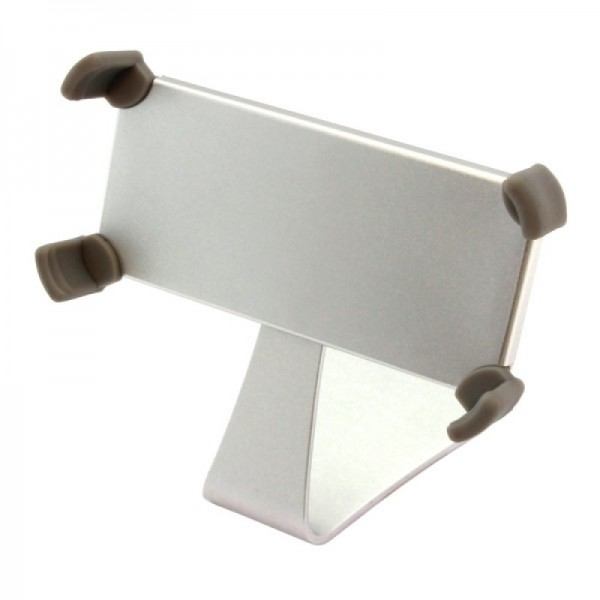 Support Alu pour iPhone 4 / 4S / 5 argent - rotatif
